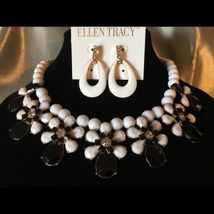 Ellen Tracy necklace and earring set